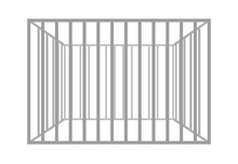 Vector Prison Bars Isolated On White Background.  Metal  Empty Cage.