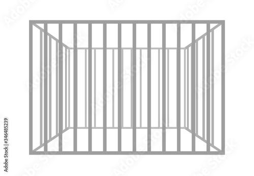 Valokuvatapetti Vector prison bars isolated on white background