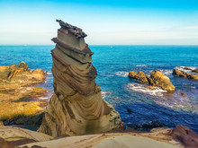 Peculiar Rock Formation Known As Nanya Rock In Bitou Taipei Taiwan