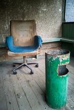 An Old Dirty Vintage Armchair ...