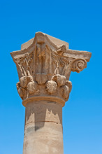 Top Of Carved Graeco-roman Col...