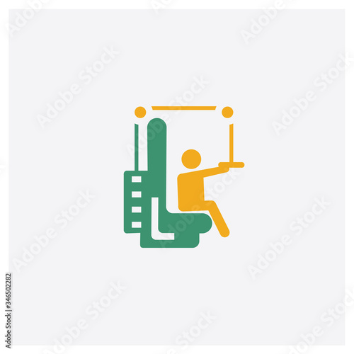 Photo Training Apparatus concept 2 colored icon