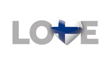 Love Finland Heart Shaped Flag...