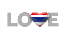 Love Thailand Heart Shaped Fla...