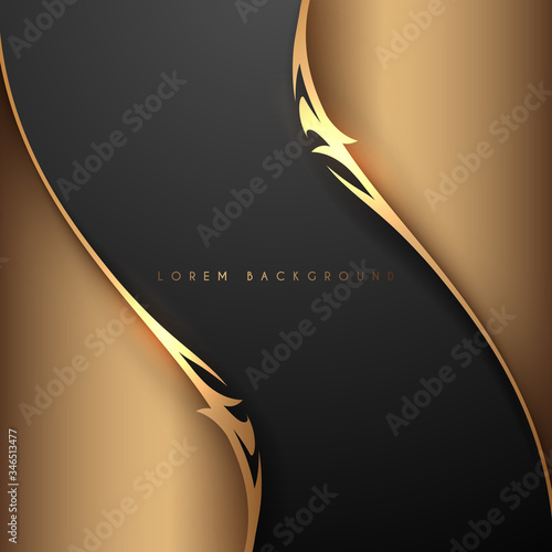 Foto Gold and black abstract elegant background