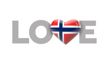 Love Norway Heart Shaped Flag ...