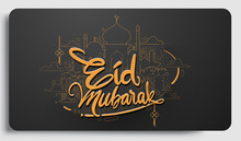 Eid Mubarak Greeting Template,...