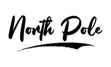 North Pole Calligraphy Black Color Text On White Background