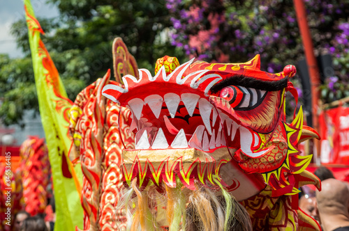 Foto Close-up Of Chinese Dragon During Parade