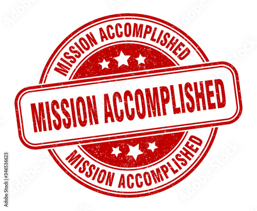 Photo mission accomplished stamp