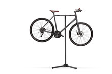 Studio Shot Of A Bicycle On A Repiar Stand