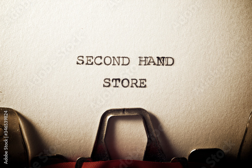 Second hand store text Wallpaper Mural