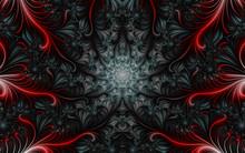 Fractal 3d Image, Gray-red, Wi...