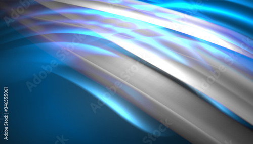 Photo Creative fluid wave lines abstract background
