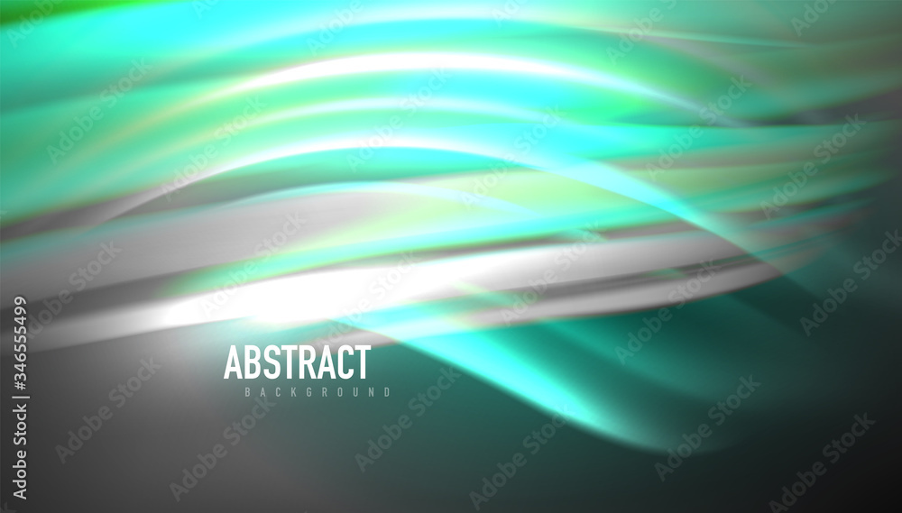 Fototapeta Creative fluid wave lines abstract background. Trendy abstract layout template for business or technology presentation, internet poster or web brochure cover, wallpaper