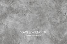 Seamless Vector Gray Concrete ...