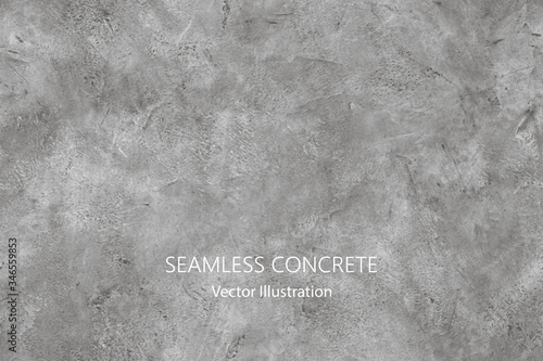 Seamless vector gray concrete texture. Stone wall background. Fototapeta