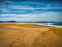 Dia Soleado En Playa Tranquila