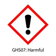 Harmful Sign (GHS07), GHS Pictograms Globally Harmonized System Of Classification And Labelling Of Chemicals (GHS) Vector Label