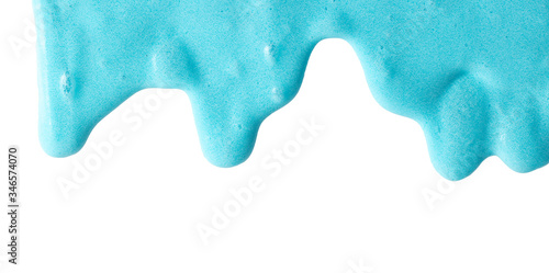 Fotomural Blue slime isolated on a white background