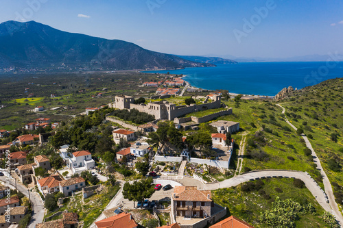 Photo Paralio Astros cityscape, view from drone, Arcadia, Greece