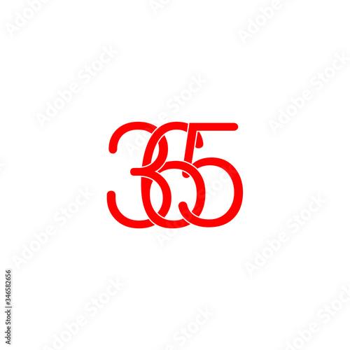 Fotografering 365 letter original monogram logo design