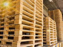 Wooden Pallets Stack At The Fr...