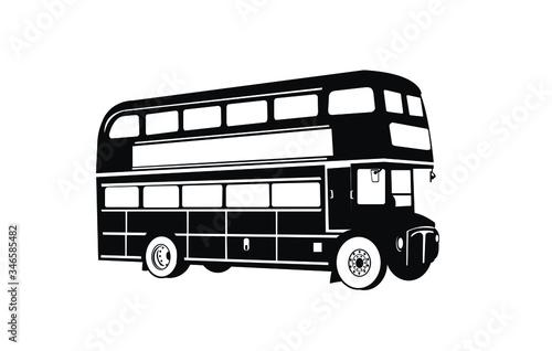 Double Decker bus silhouettes Fototapete