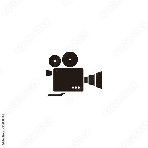Obraz na plátně video camera vintage filmmaker icon logo design