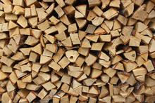 A Heap Of Chopped Firewood In ...