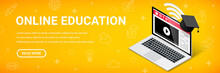 Online Education Isometric Nar...