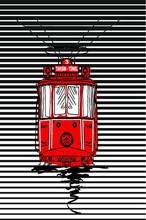Istanbul Beyoglu Tramway Print...