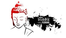 Illustration Of Buddha Purnima Background.with Nice And Creative Design
