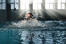 Professional Athlete Swims In ...