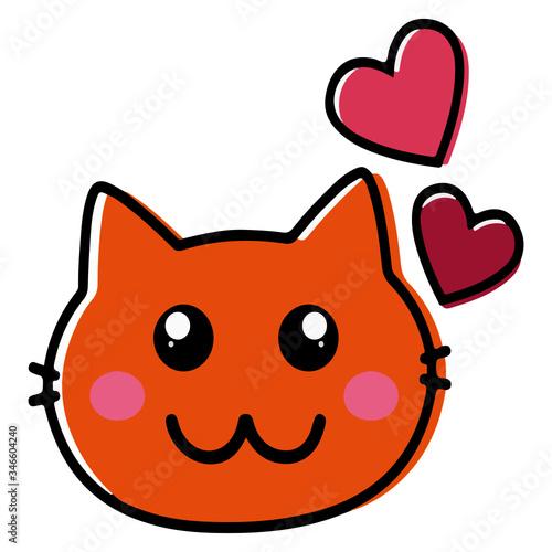 Photo Gato vector icon, gato animado, gato sticker