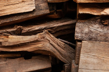 Wooden Pieces Of Bark Close-up...