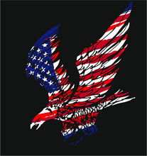 American Flag Eagle Print And ...