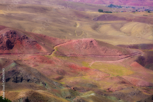 Multi-colored mountain landscape Canvas Print