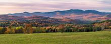 Autumn Sunset On Country Farm ...