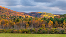 Scenic Fall Drive Near Montpelier Vermont - Sunset