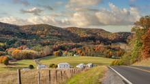 Rural Virginia Farm Town In Au...