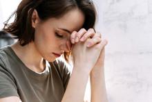 Woman Hands Praying To God. Wo...