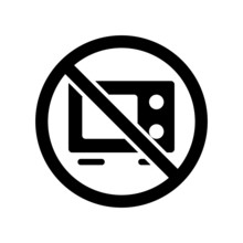 Do Not Microwave Icon, Do Not ...