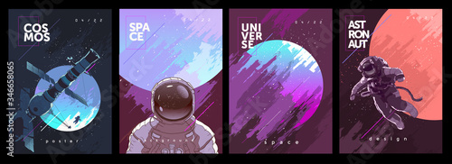 Canvas-taulu A set of vector illustrations