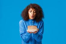 Woman Celebrating Her Birthday...