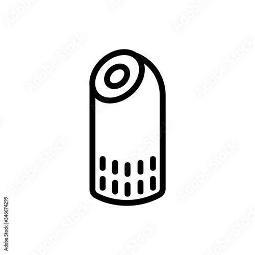 Photo aerosol home air purifier icon vector