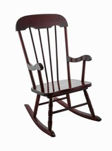 Wooden Rocking Chair Isolated ...