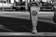 Close-up Of Old Parking Meter