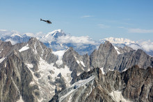 Helicopter Over Aiguille Du Mi...