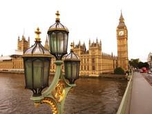 Lantern With Big Ben In Backgr...